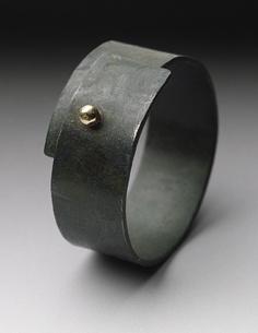 Steel Snap Ring, Gold & Steel Ring, Peg Fetter