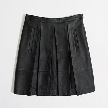 pleated leather skirt / j.crew factory